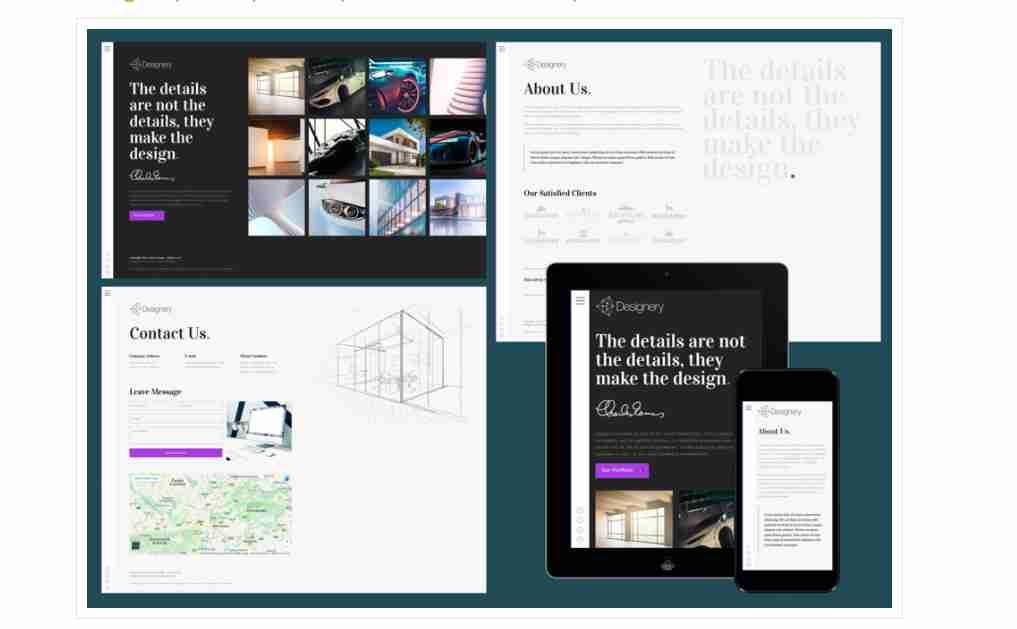 Designery – Responsive portfolio website template ||  Responsive portfolio website template