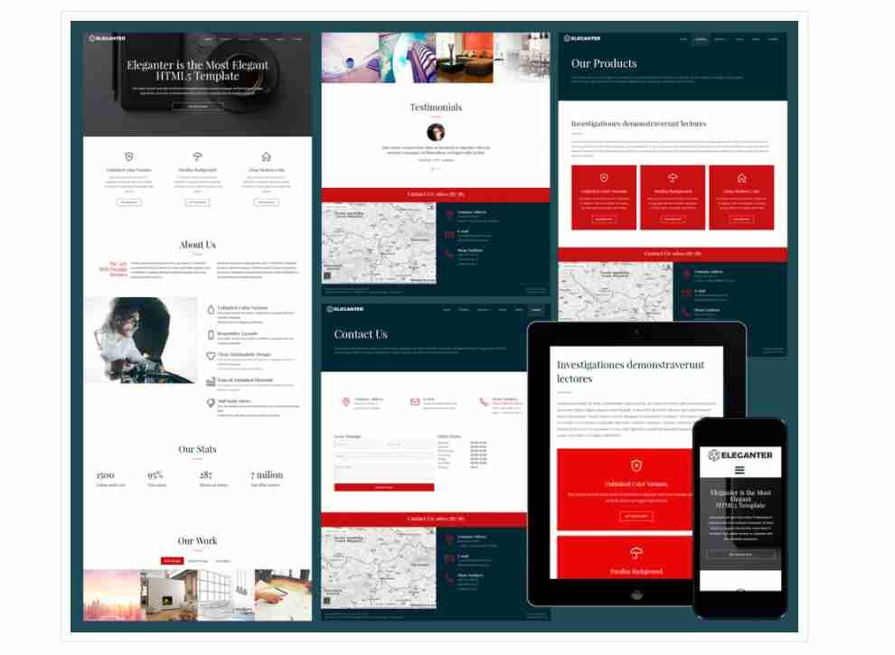 Eleganter – Responsive elegant business website template