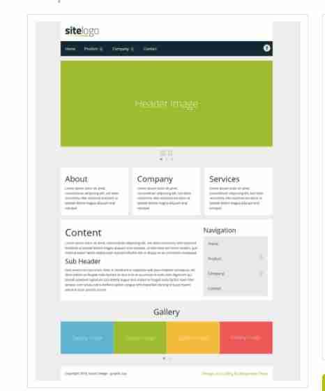Business – Responsive website template