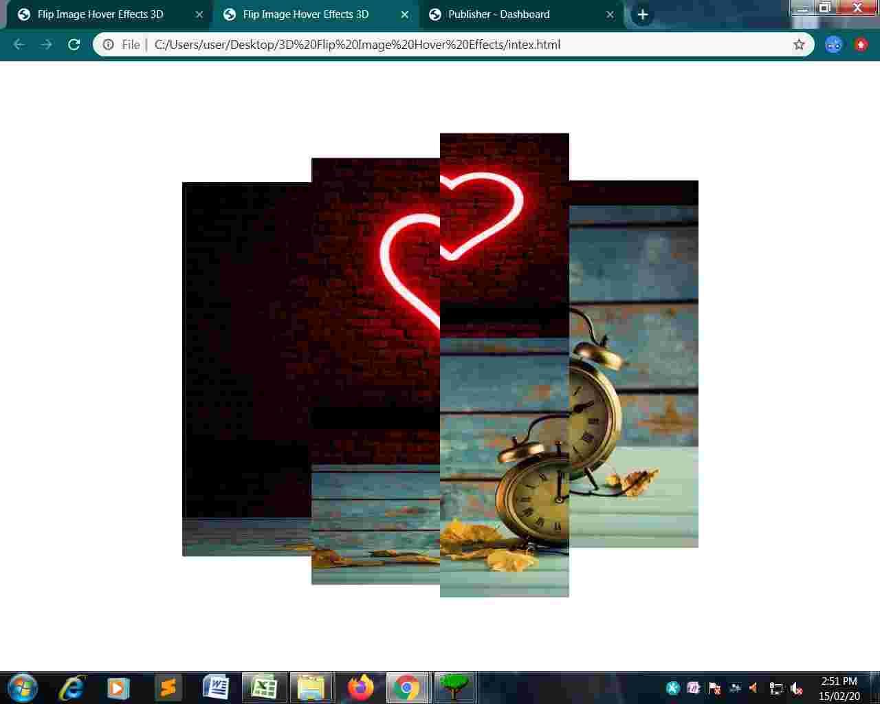 Flip Image Hover 3D Effects