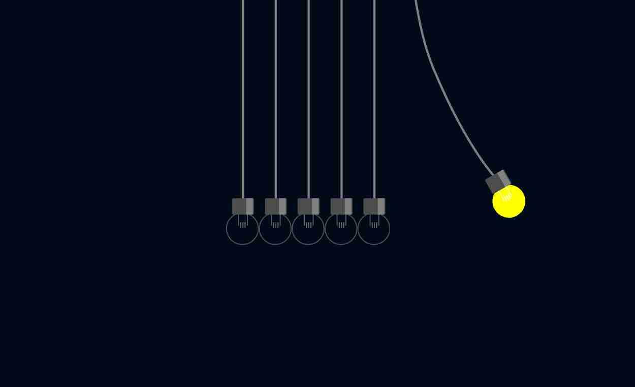 newtons ight bulbs uses html , css and js