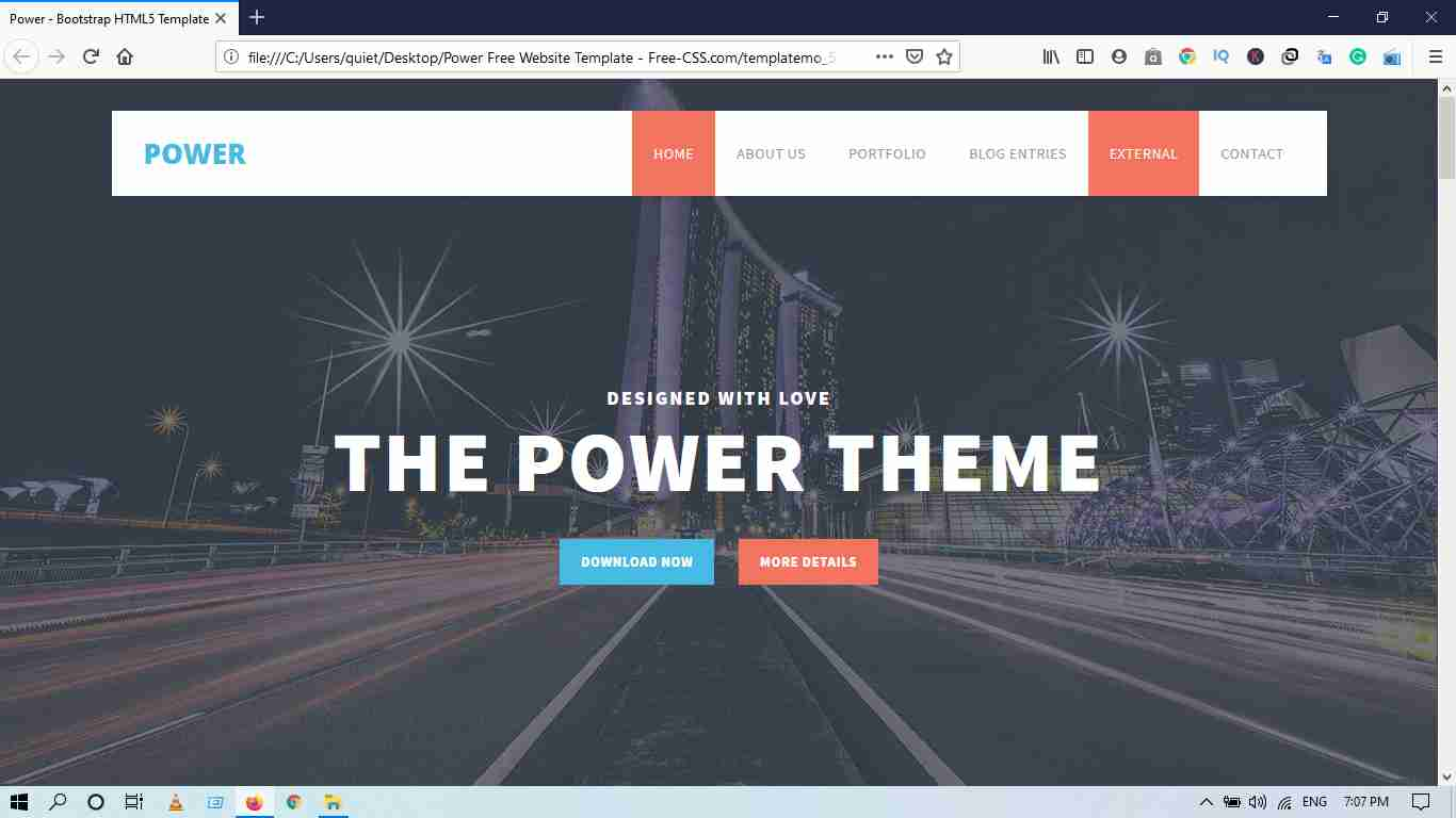 The Power Theme Website Template