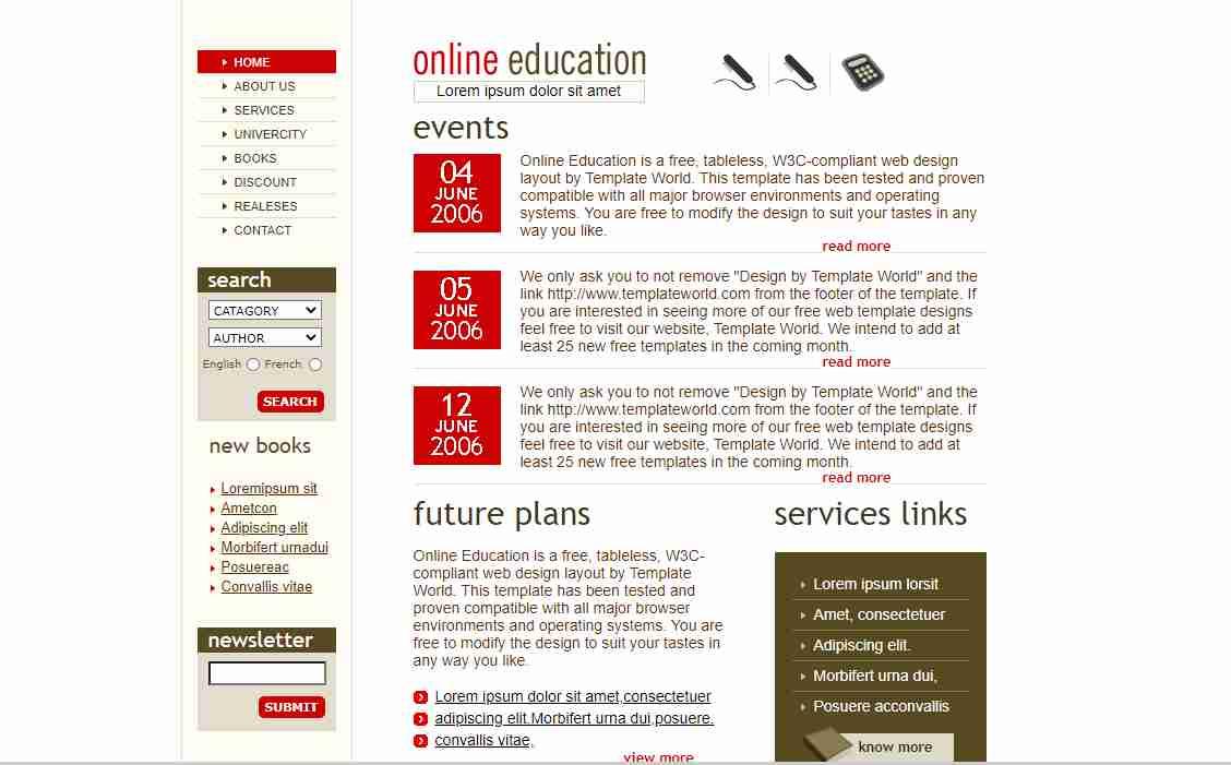 Complete RESPONSIVE Animated Online Education Website Design