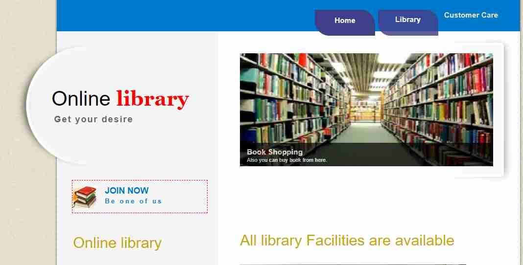 HTML,CSS,JAVASCRIPT ,PHP based Online library website template