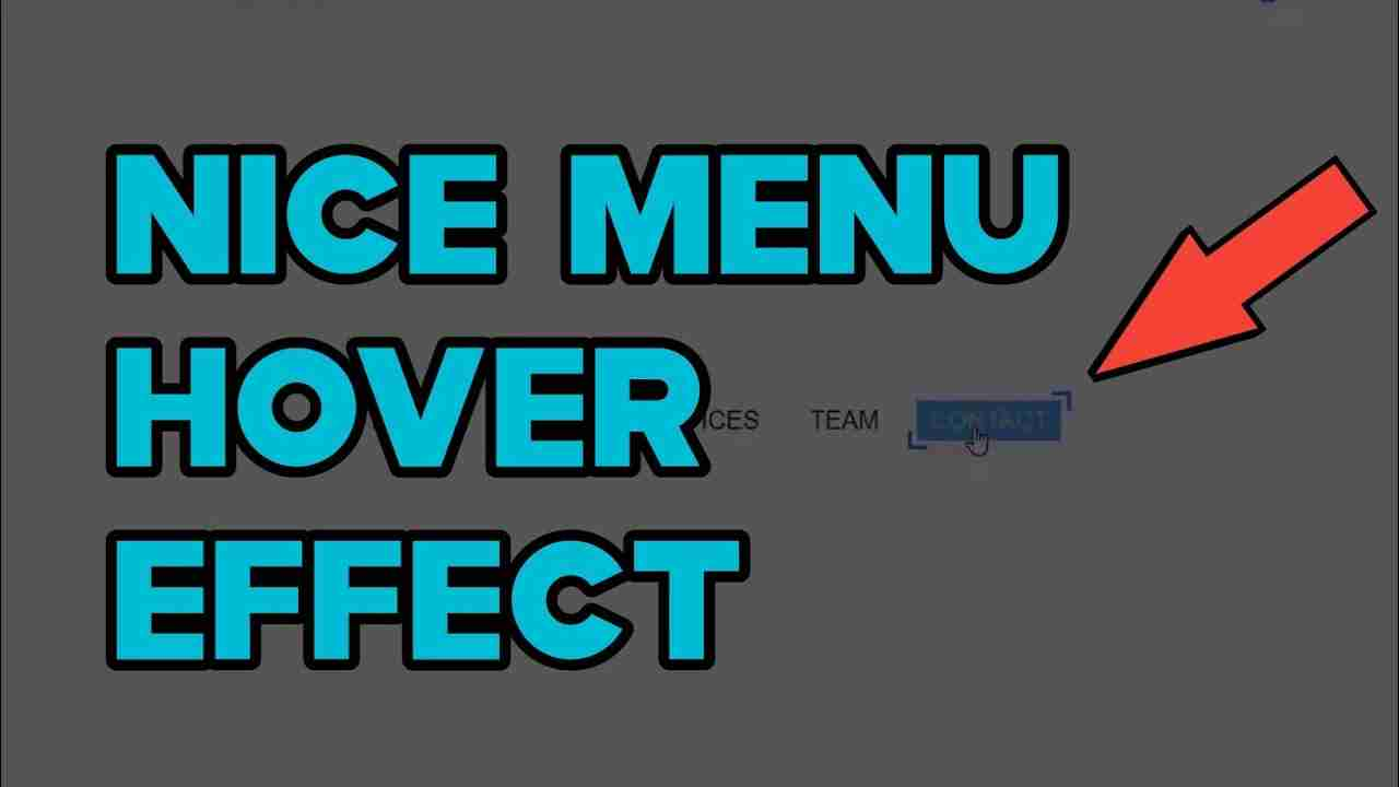Nice Menu Hover Effect Using html and css