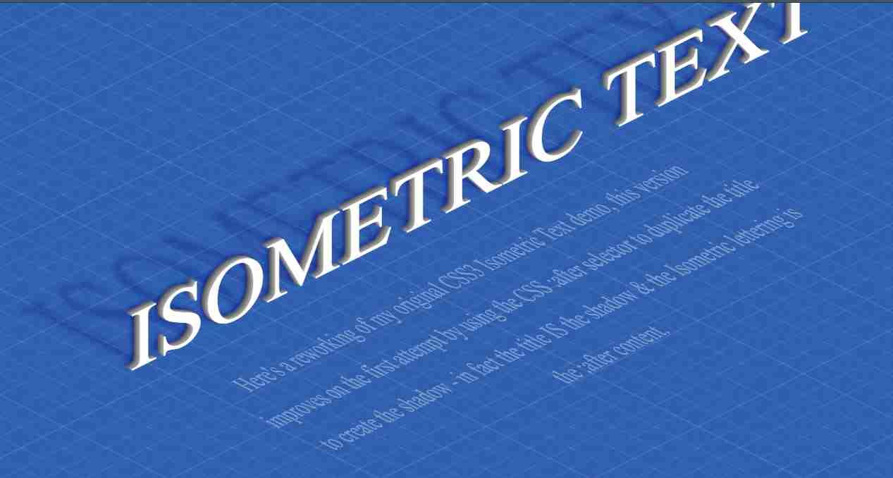CSS 3D Isometric Text Effects | CSS & Vanilla Javascript
