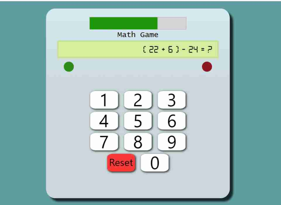 MATH GAME IN JAVASCRIPT WITH SOURCE CODE