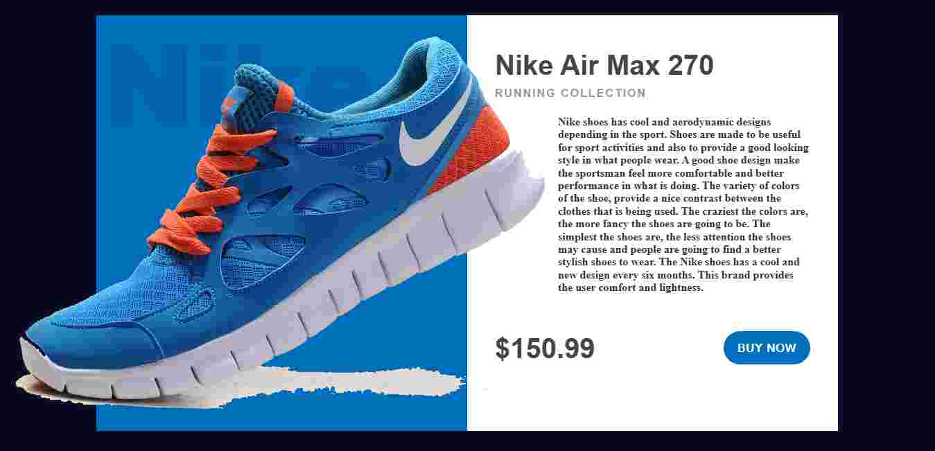 Nike Shoe Web Template
