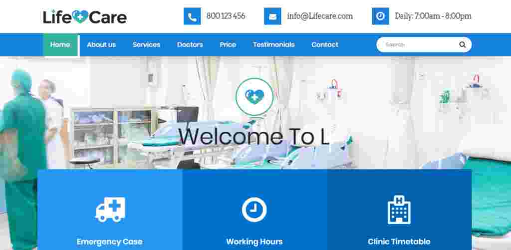 Download Free Medical Website Template Source Code.