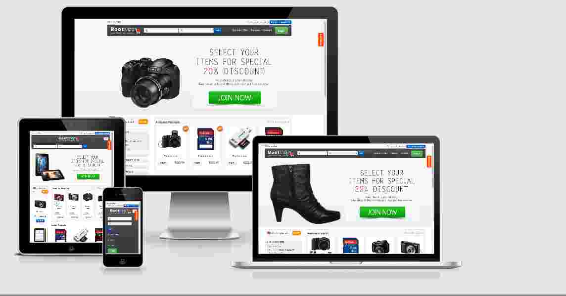 eCommerce shopping Website Template Free Source Code
