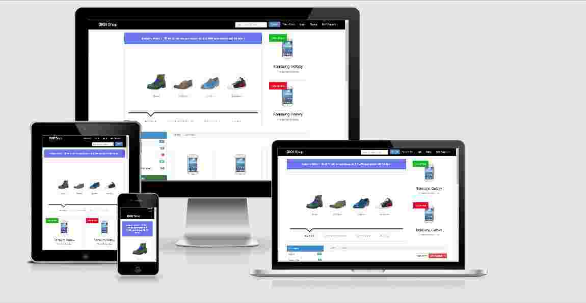 eCommerce Shopping Website Design Free Download