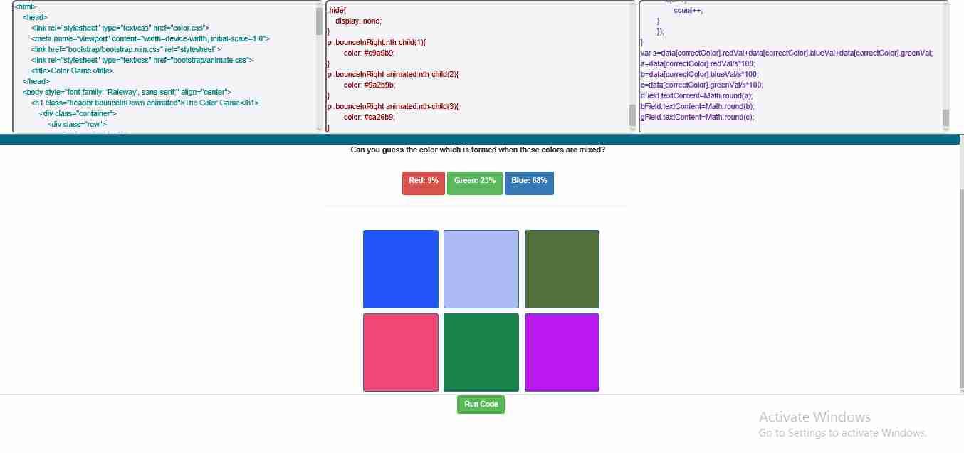 Code Editor for html, css & javascript