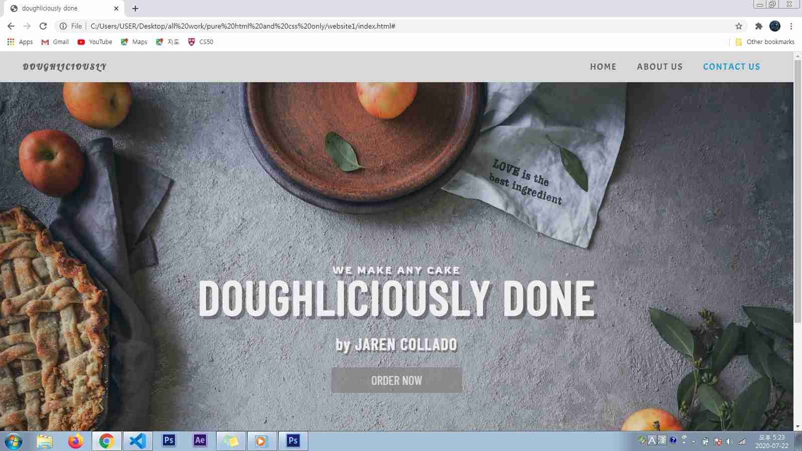 baking business page