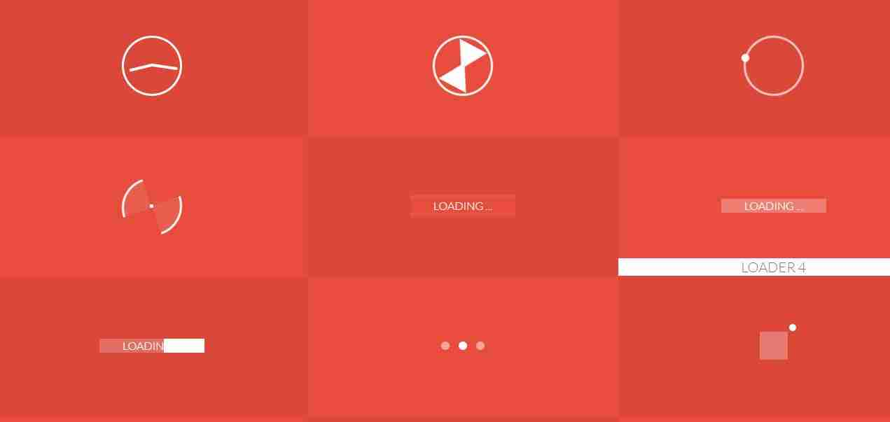 12 Page Loading Animation Using HTML and CSS