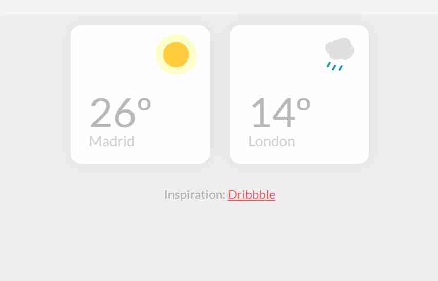 Create Weather Widgets | Using HTML & CSS | 2020
