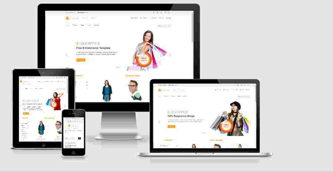 Shopping Website Template Free Source Code Download