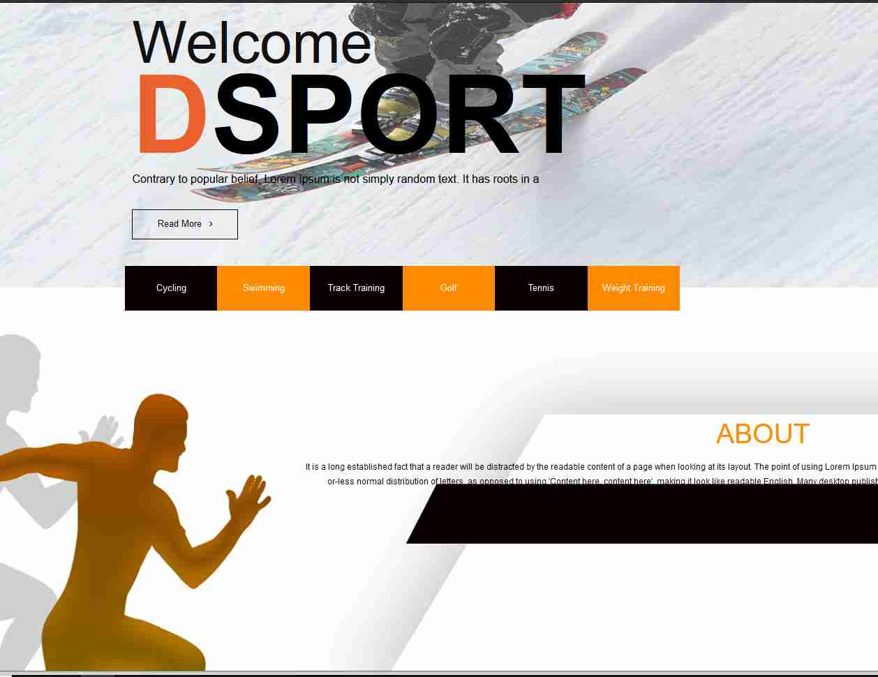 SPORTS website templates free download html with css
