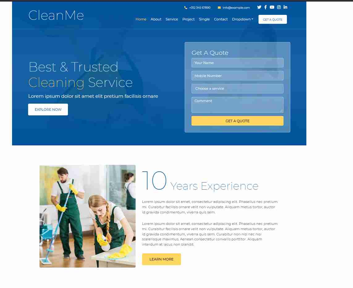 CLEAN website templates free download html with css