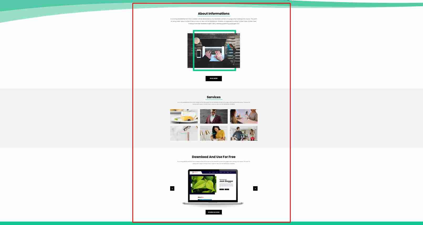 Creative Website Template Design using HTML CSS and All - Web Design