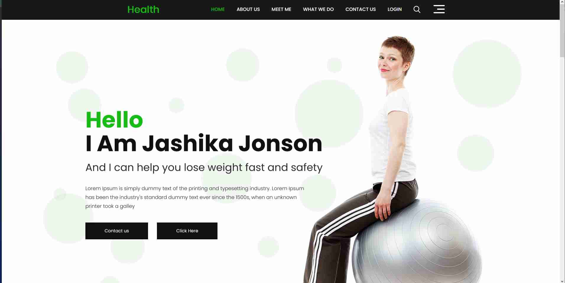 Fitness & Gym Complete Website Template using by Html Css