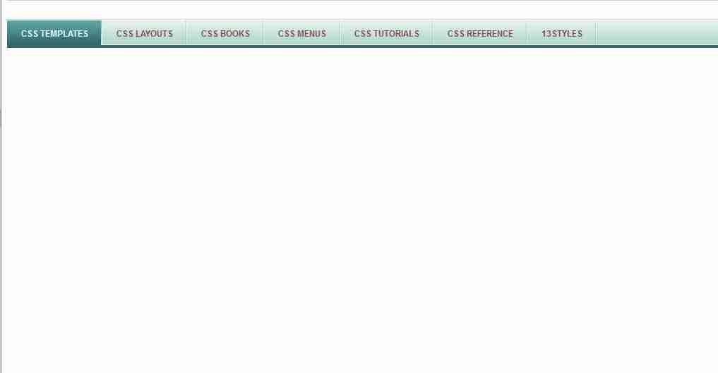 make a horizontal navigation bar in CSS?