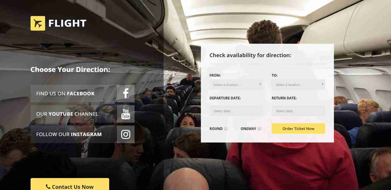 Flight Booking Website Template With Free Source Code