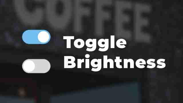 Toggle Page Brightness Using a Custom Checkbox