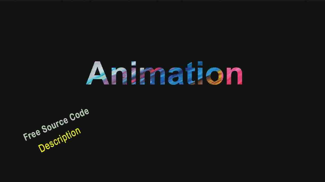 Simple Text Animation Using html & css. Download Source Code