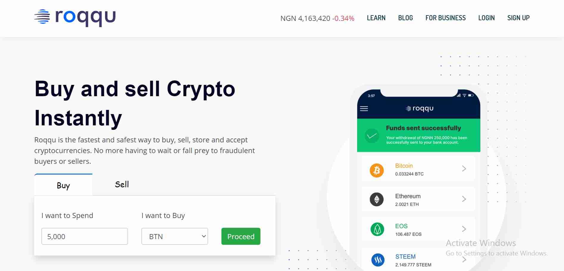 Roqqu Bitcoin Website Template