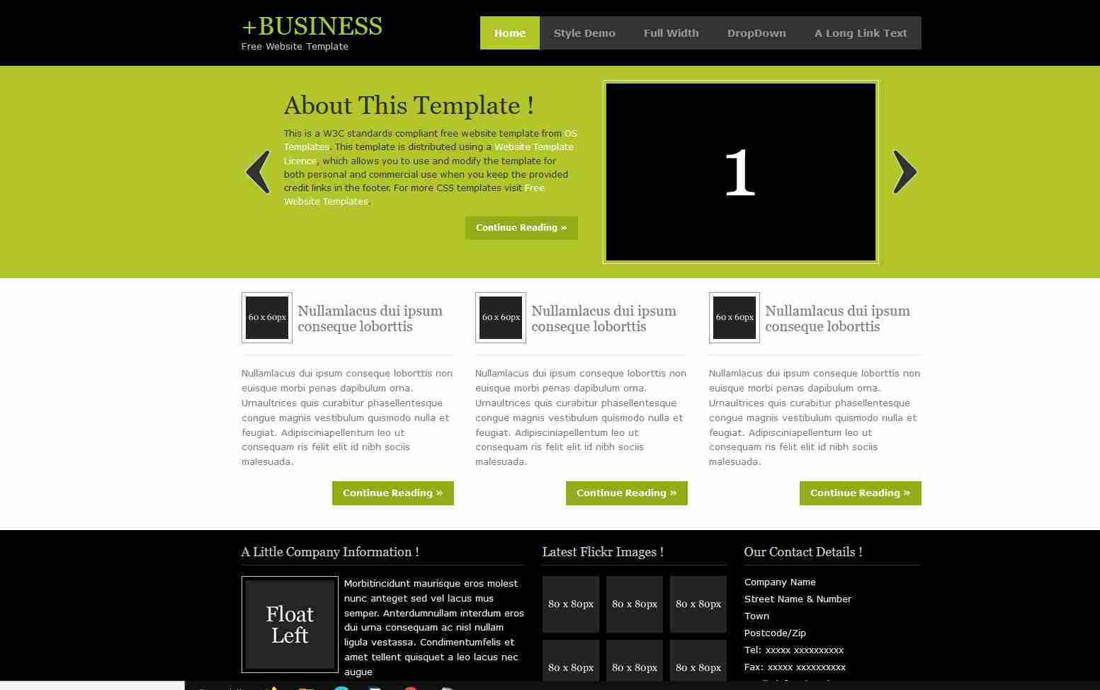 Create Business Website Using HTML And CSS | Corporate Website Design