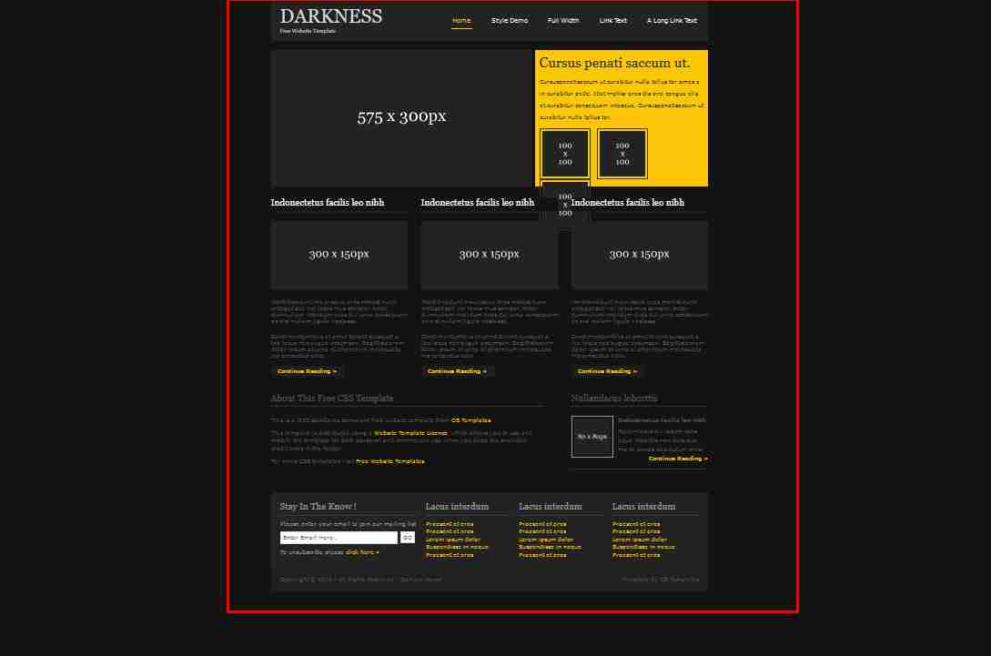 How to Create A Great Dark Website Design Using HTML And CSS