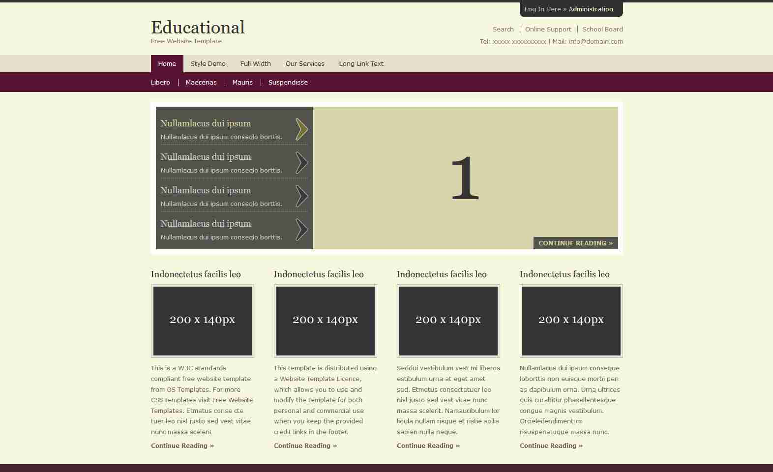 Education Website Design Using HTML/CSS/JQUERY/BOOTSTRAP